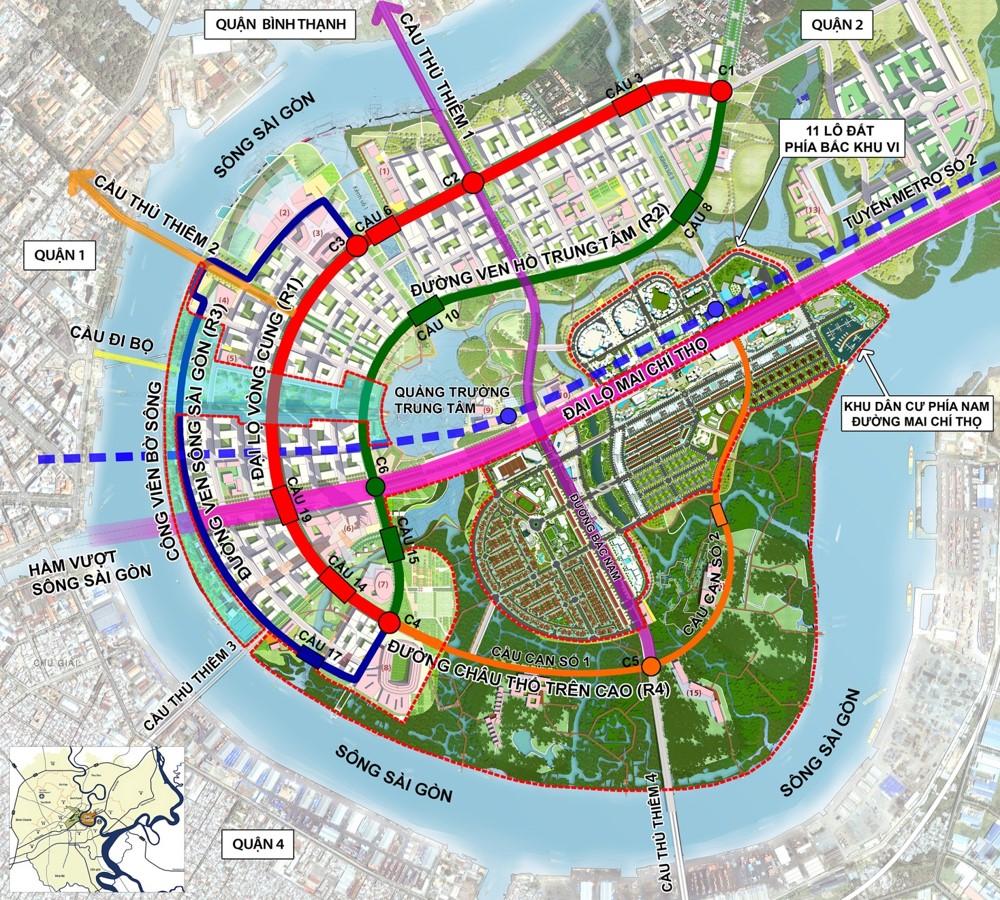 45% diện tích đất phát triển dự án tại Thủ Thiêm được phê duyệt thông qua hợp đồng BT