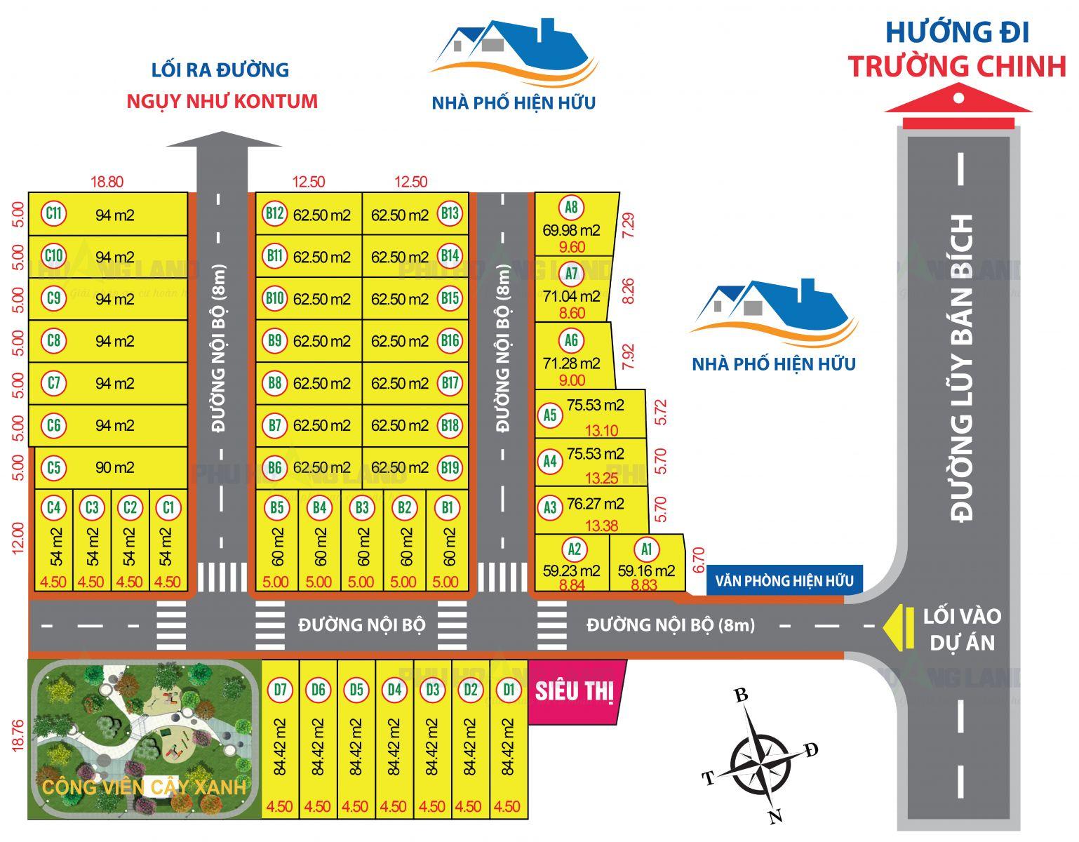 Mặt bằng dự án đất nền khu dân cư Lâm Thành Phát