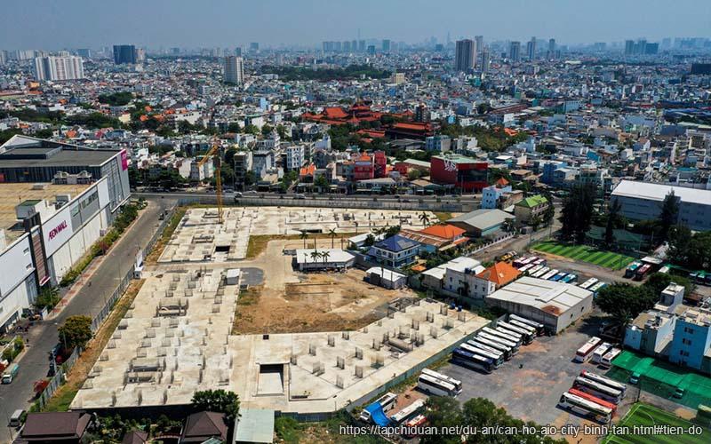 tiến độ xây dựng căn hộ aio city bình tân 2021