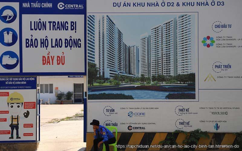 tiến độ xây dựng căn hộ Aio city bình tân