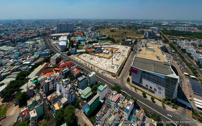 tiến độ xây dựng aio city binh tân