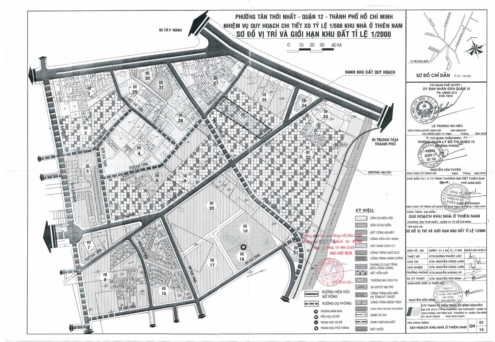 quy hoạch thiên nam quận 12