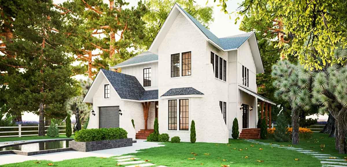 mẫu thiết kế nhà tại bảo Lộc Green wich