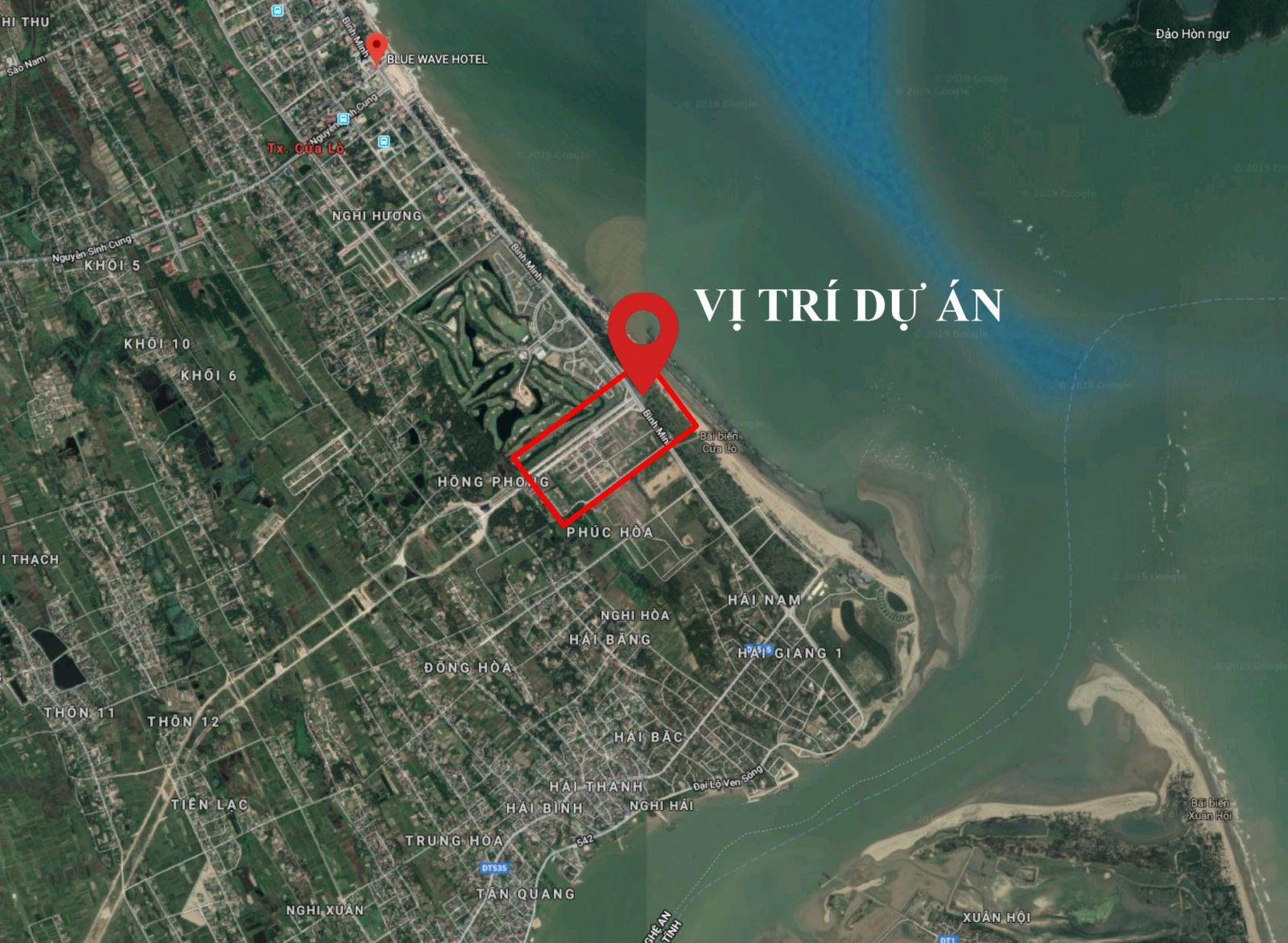 vị trí dự án beach villa cửa lò