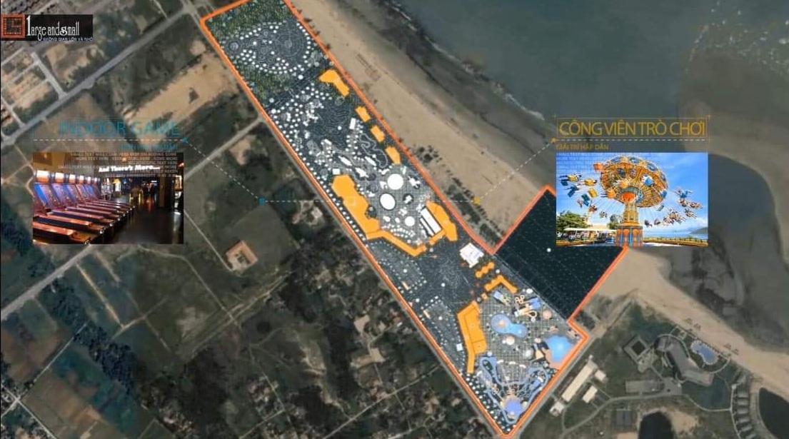 vị trí dự án đất nền cửa hội nghệ an của lo beach villa