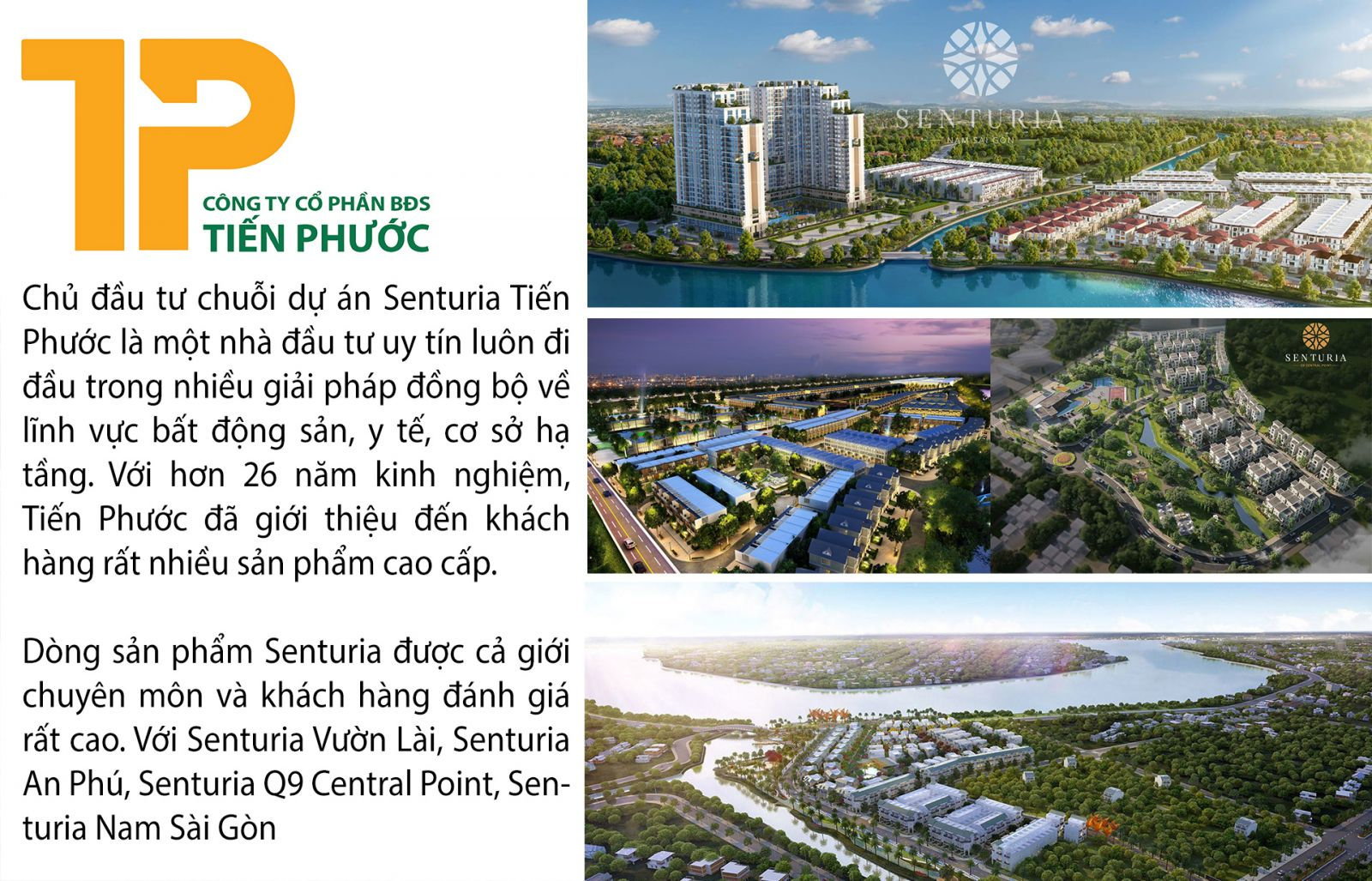 Chủ đầu tư Tiến Phước và thành công với dòng sản phẩm Senturia