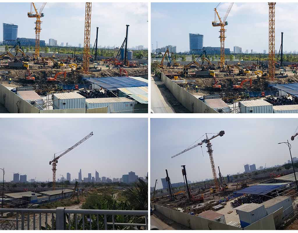Tiến độ xây dựng dự án The River Thủ Thiêm tháng 2 năm 2020