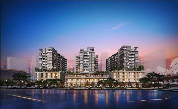 Phối cảnh dự án Metropole Thủ Thiêm bao quanh dưới dòng sông Sài Gòn hiền hòa.