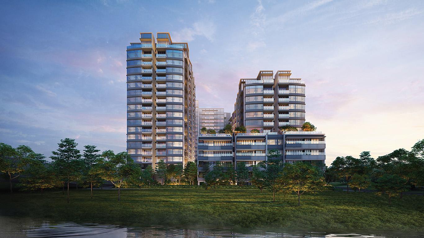Phối cảnh nhìn từ sông Sài Gòn vào dự án The River Thủ Thiêm Quận 2