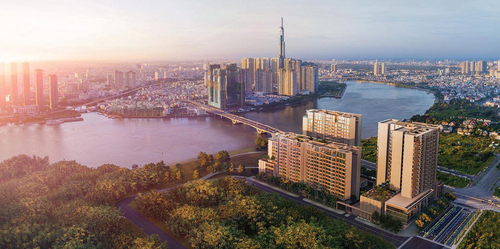 Phối cảnh dự án The River Thủ Thiêm Quận 2
