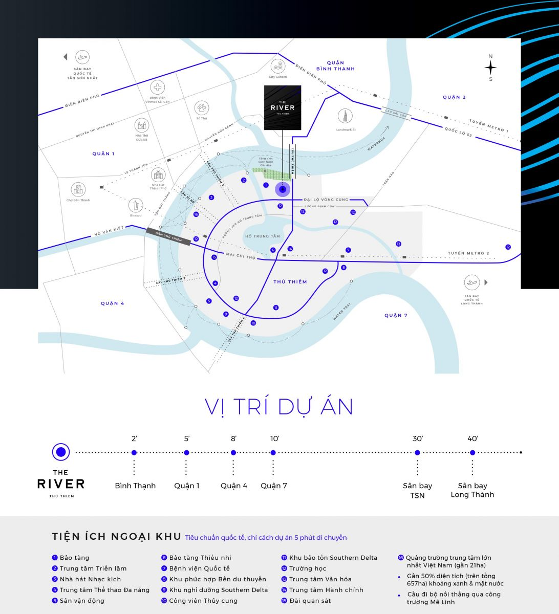 vị trí dự án the river thu thiem tapchiduan.net