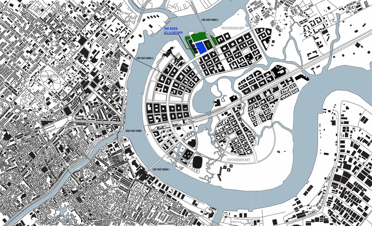 vị trí dự án The River Thủ Thiêm Quận 2
