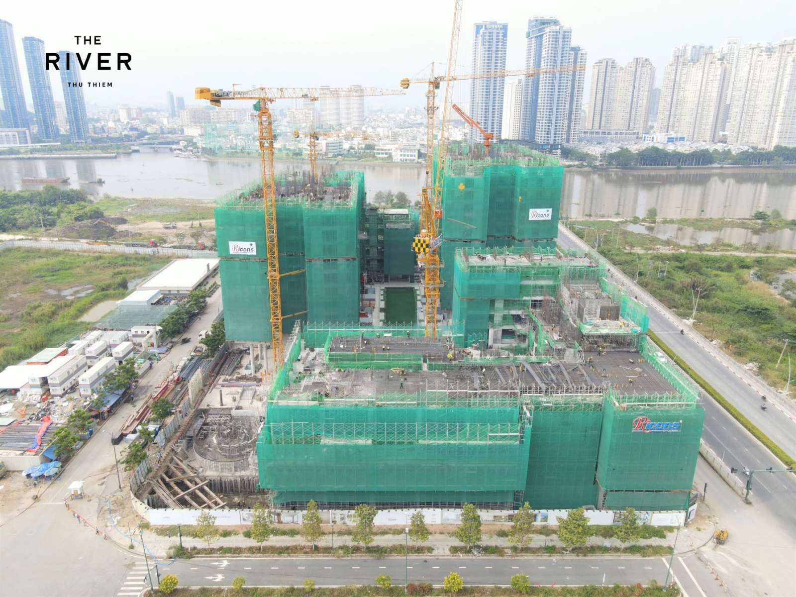 tiến độ xây dựng dự án căn hộ the river thu thiem quận 2