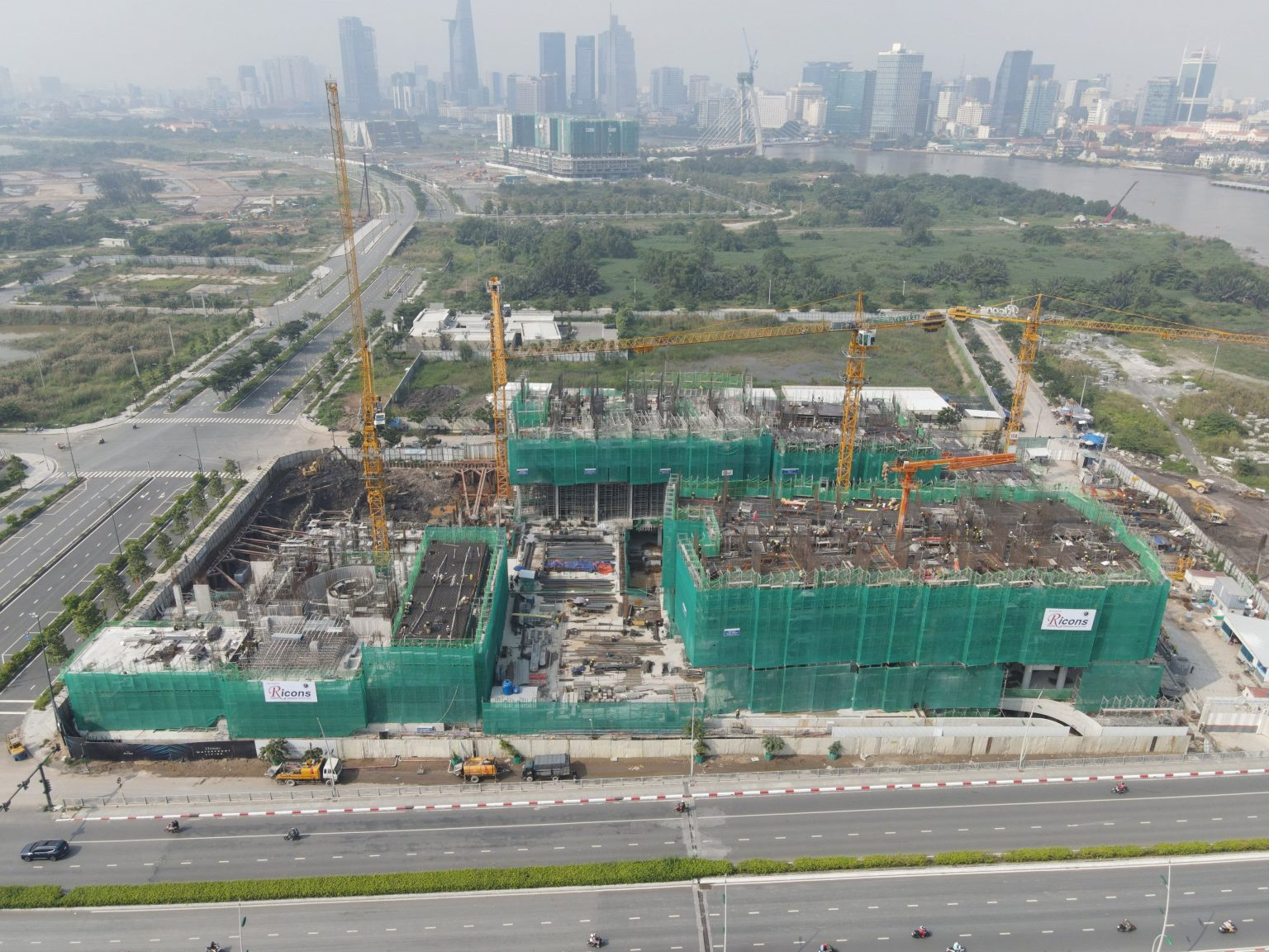 tiến độ xây dựng dự án The River Thủ Thiêm