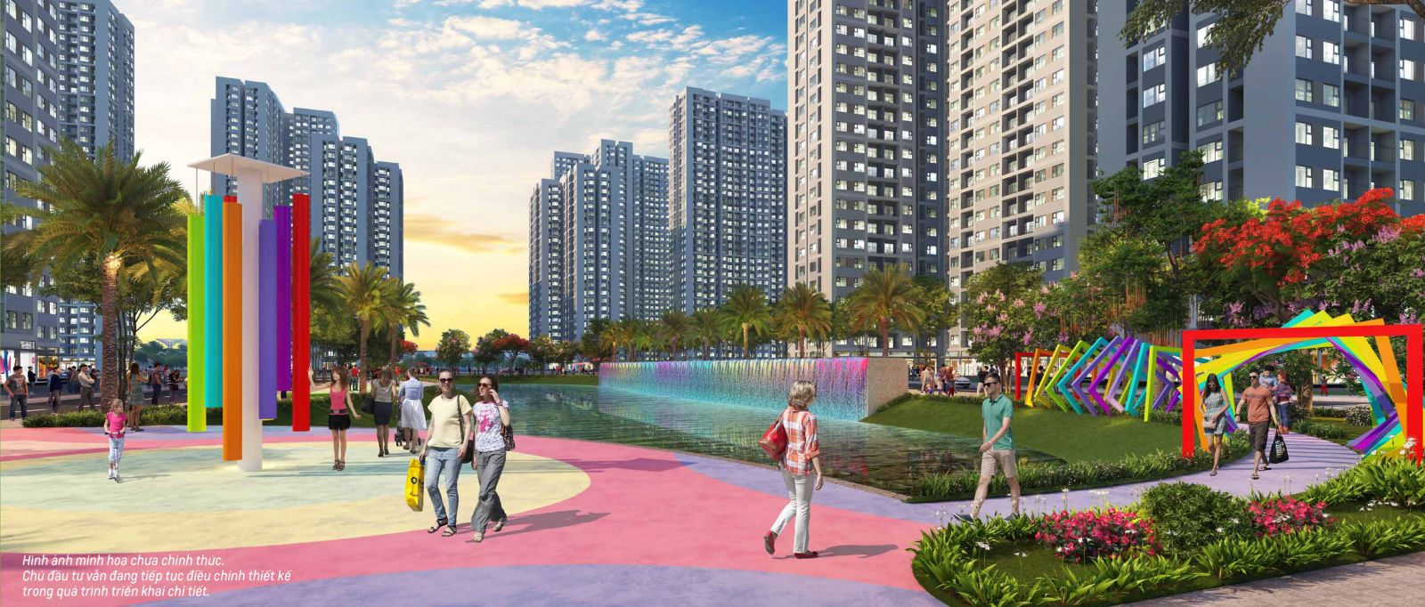 Phối cảnh phân khu The Rainbow dự án Vinhomes Grand Park Quận 9