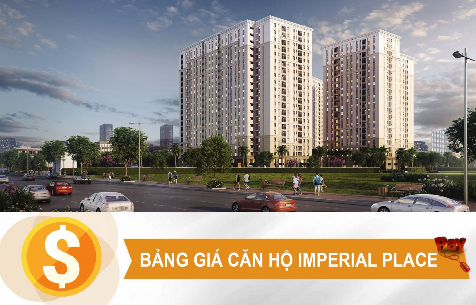 bảng giá căn hộ imperial place