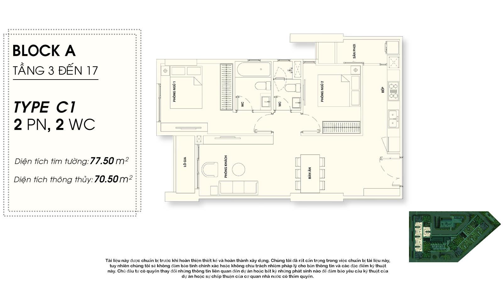 thiết kế căn hộ chung cư Asiana riverside Quận 7  - 2 phòng ngủ