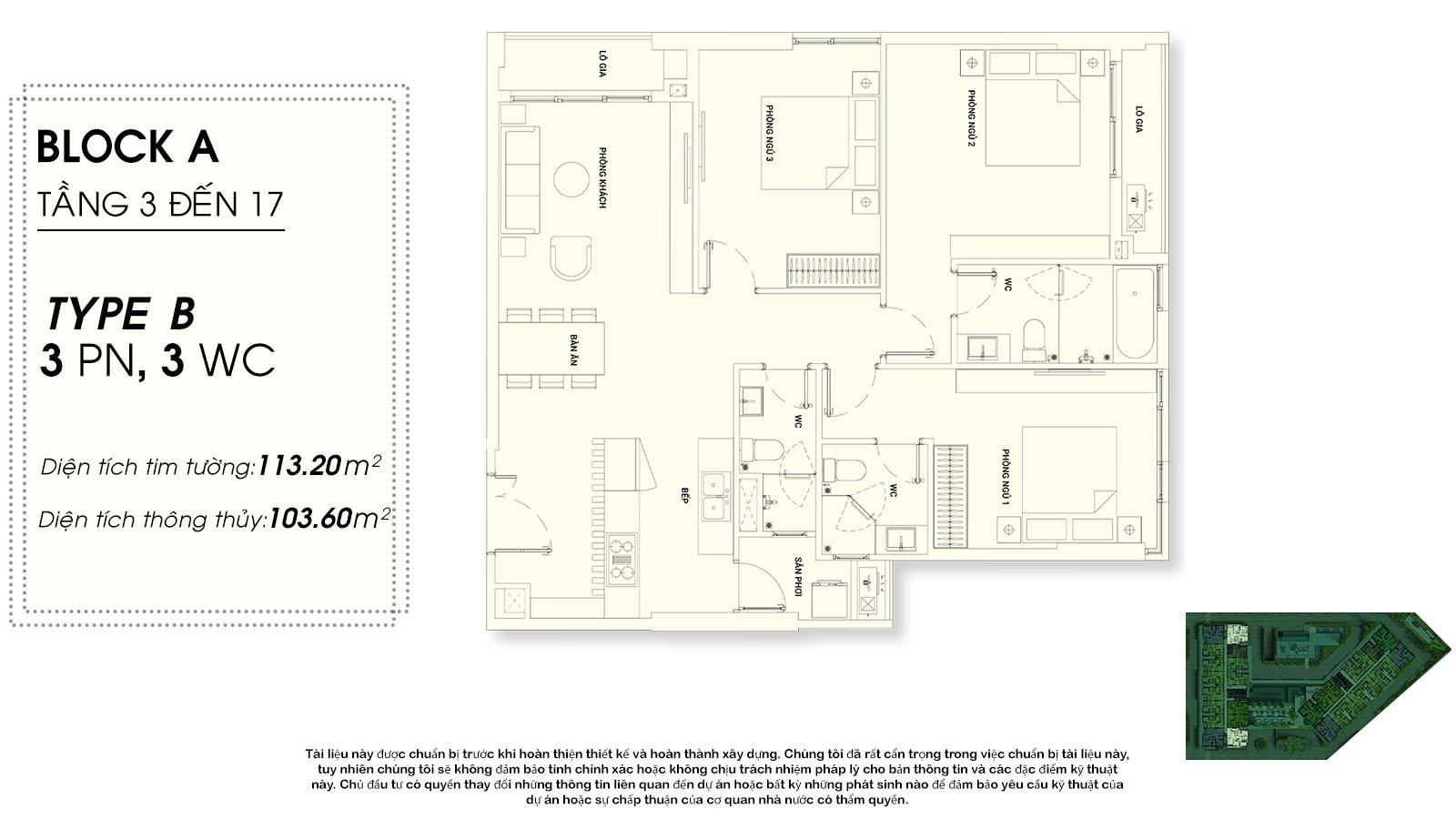 thiết kế căn hộ chung cư Asiana riverside Quận 7  - 3 phòng ngủ