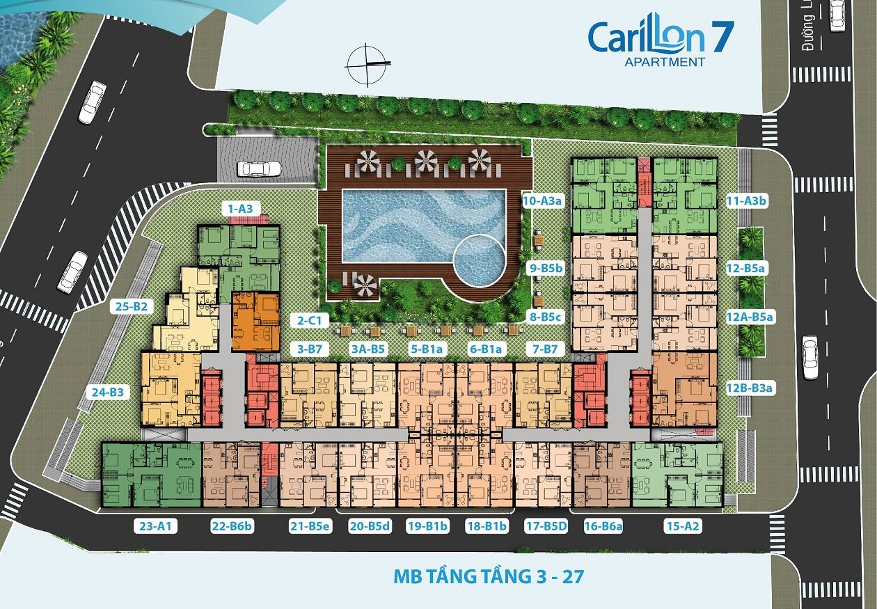 carilon 7 mặt bằng tầng căn hộ