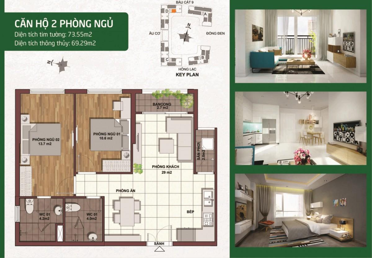 Thiết kế căn hộ palacio garden