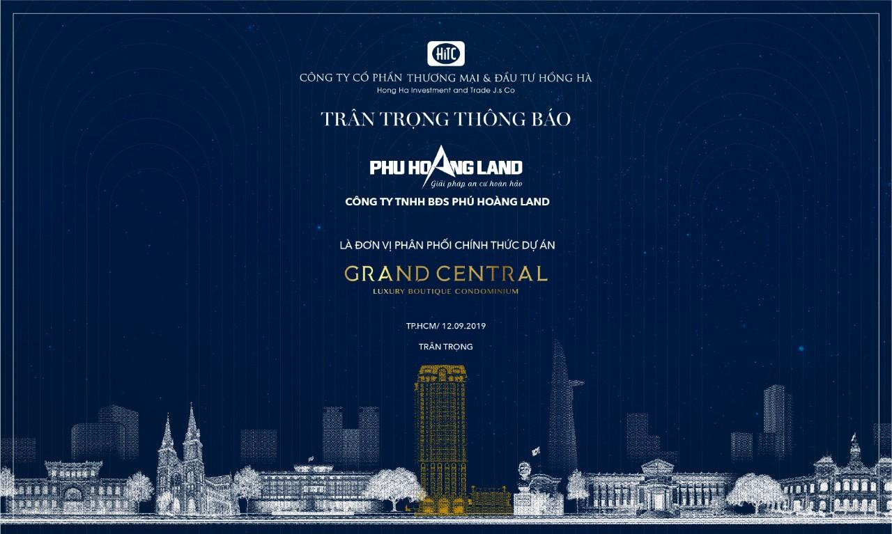 Dự án căn hộ Grand Central Hồng Hà Quận 3