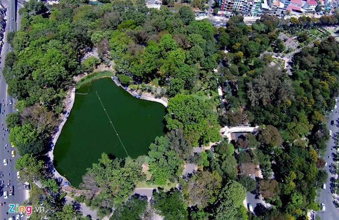 Công viên xanh mát tại căn hộ 251 hoàng văn thụ