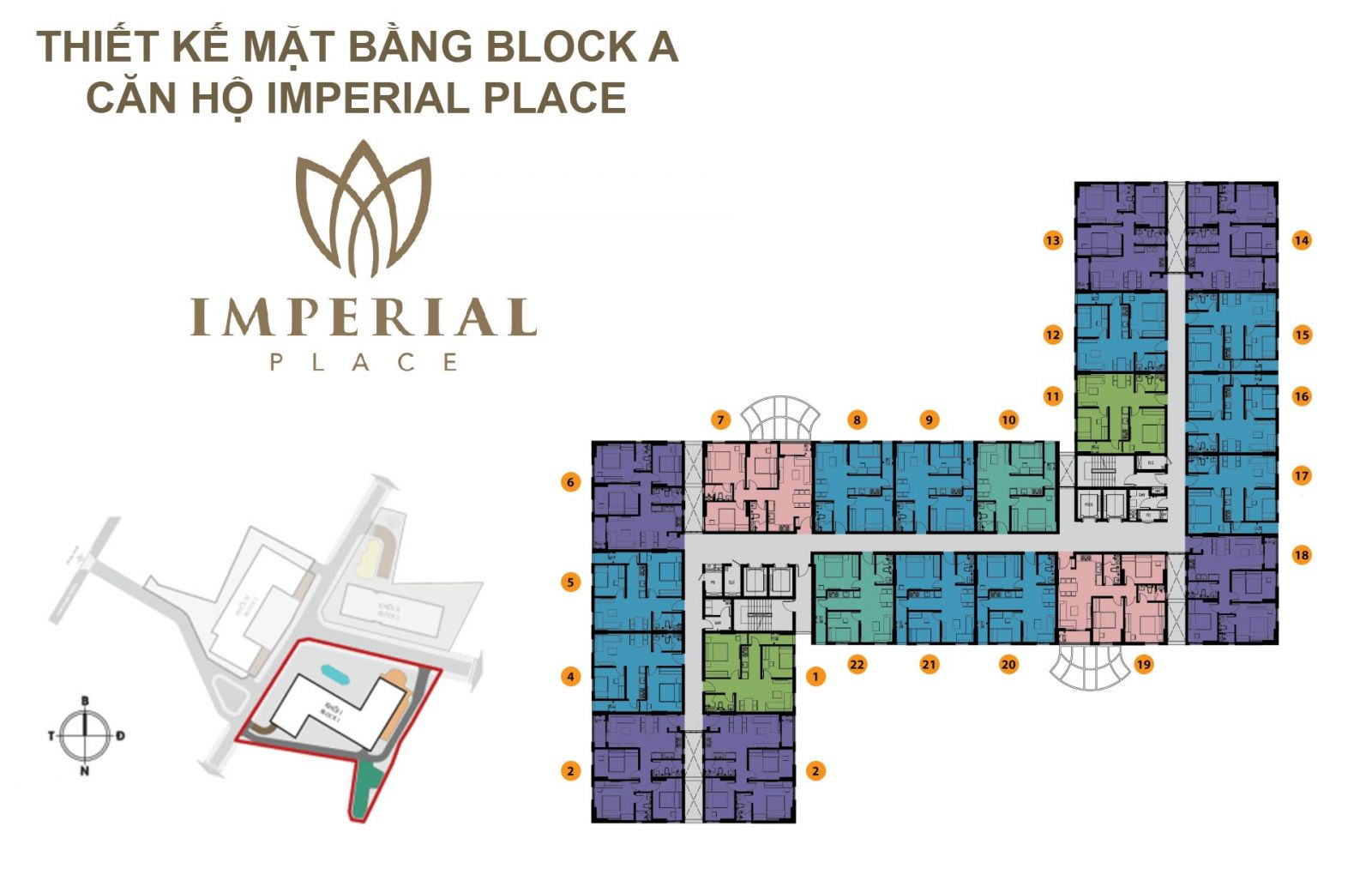 imperial place mặt bằng block A