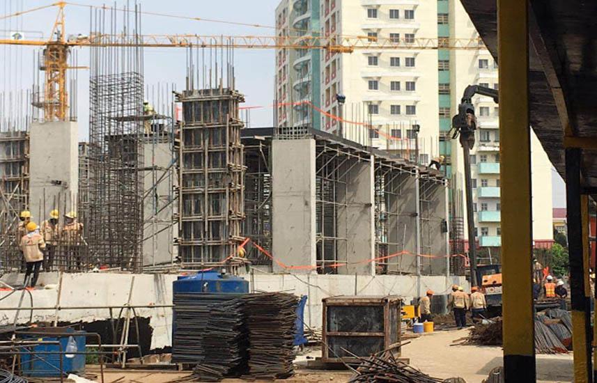 Tiến độ xây dựng Imperial Place tháng 12 năm 2018.