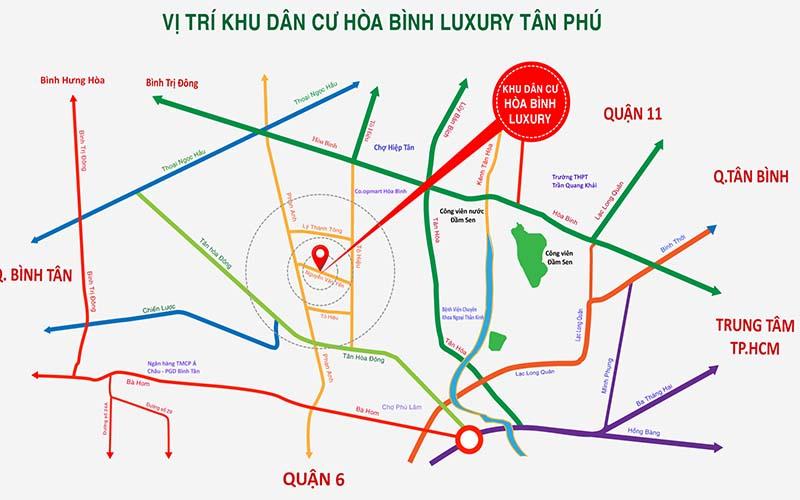 Vị Trí Dự án Nhà Phố Hòa Bình Luxury
