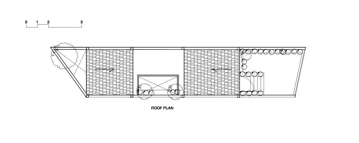 Bản vẽ mặt bằng mái của ngôi nhà