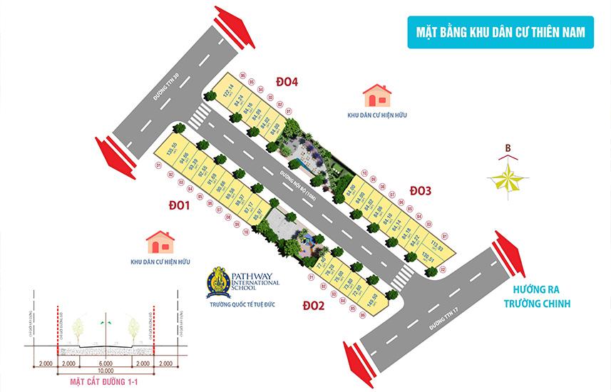 phân lô dự án thiên nam residence quận 12