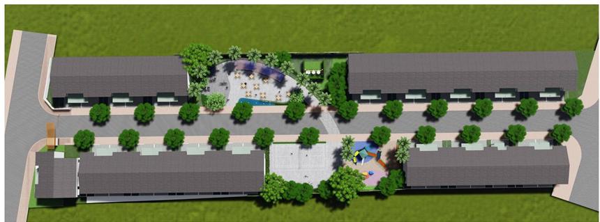 mặt bằng dự án nhà ở Thiên Nam Residence Quận 12