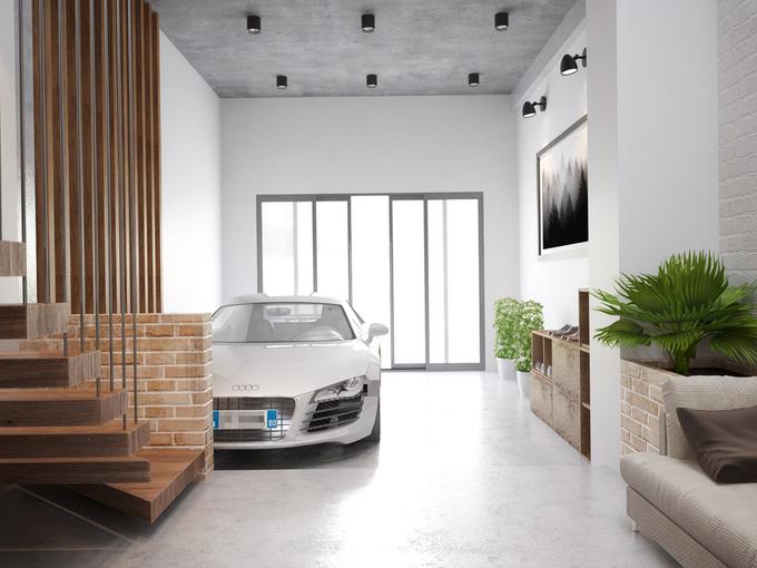 thiết kế nhà phố  90 m2