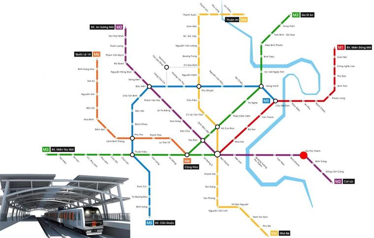 Quy hoạch tuyến metro qua dự án Thiên Nam Quận 12