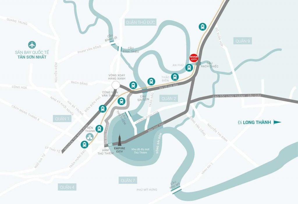 vị trí dự án river city thủ đức