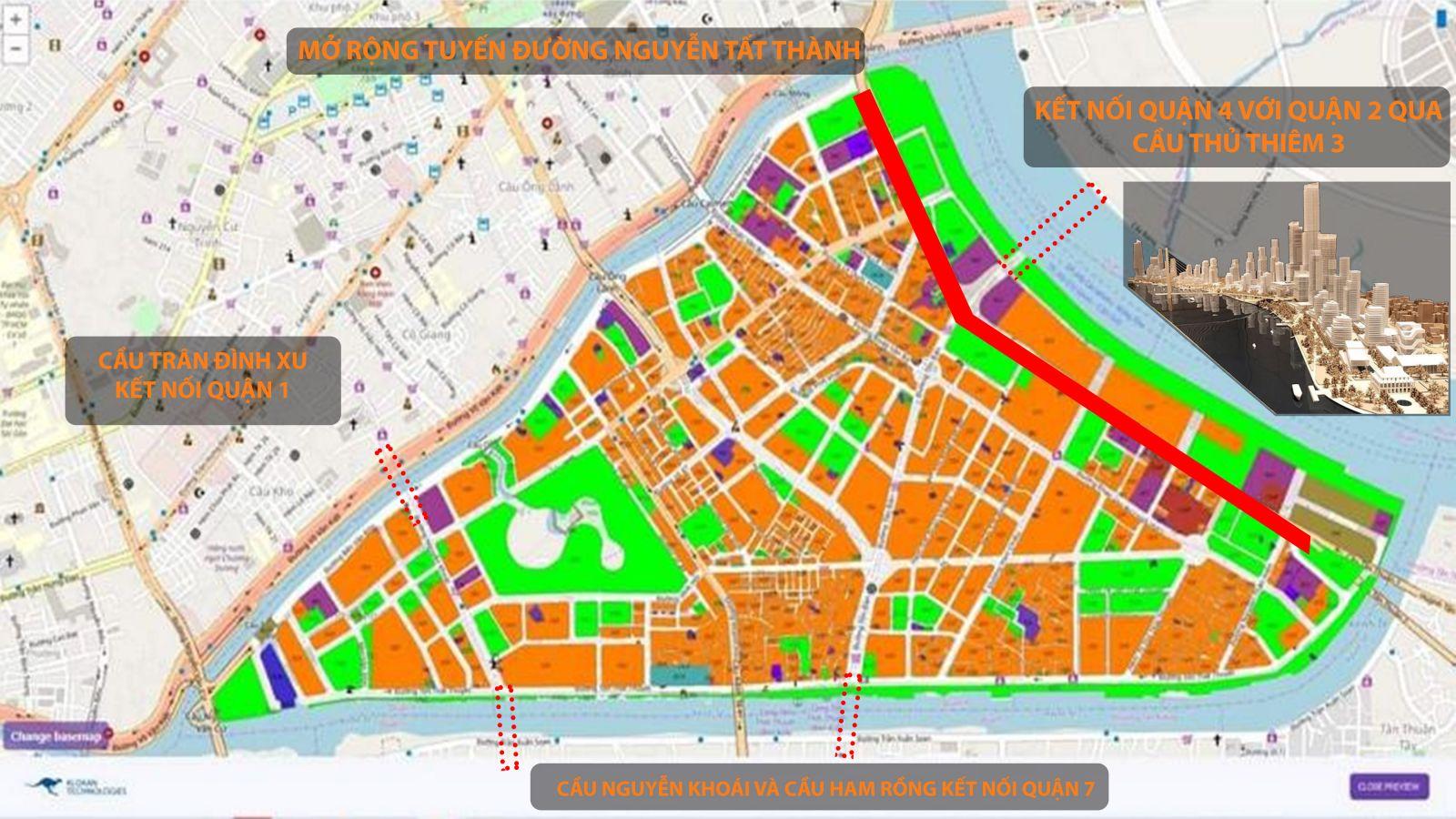Quy hoạch Quận 4 và các tác động tăng giá dự án Sunshine Horizon Quận 4