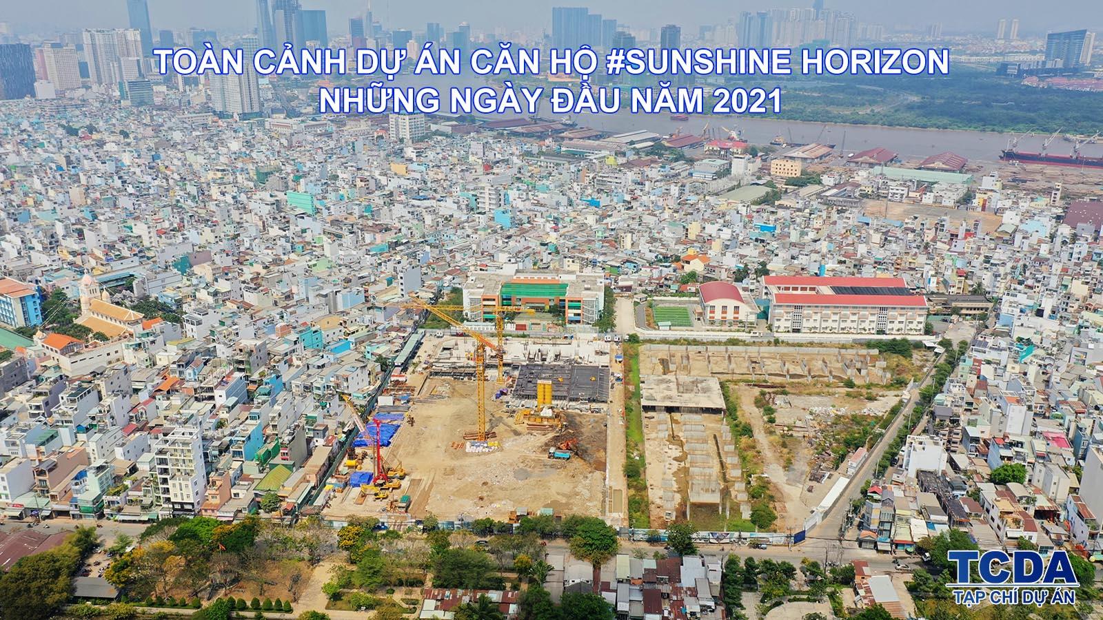 Toàn cảnh tiến độ xây dựng dự án Sunshine Horizon Quận 4 đầu năm 2021
