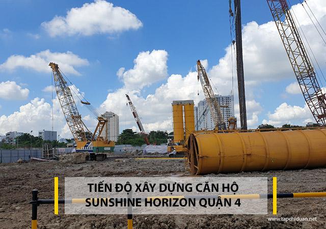 Tiến độ xây dựng dự án Sunshine Horizon Quận 4 tháng 8 năm