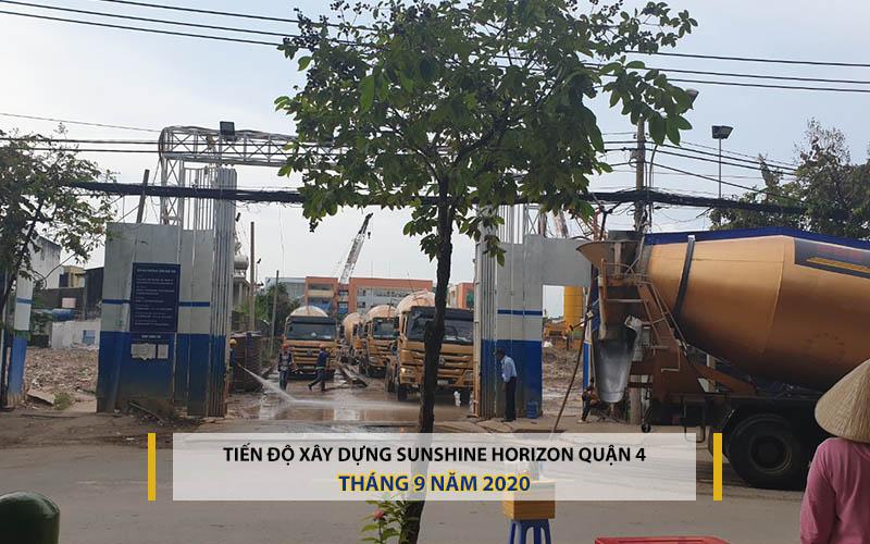 tiến độ xây dựng sunshine Horizon Quận 4 tháng 9 năm 2020