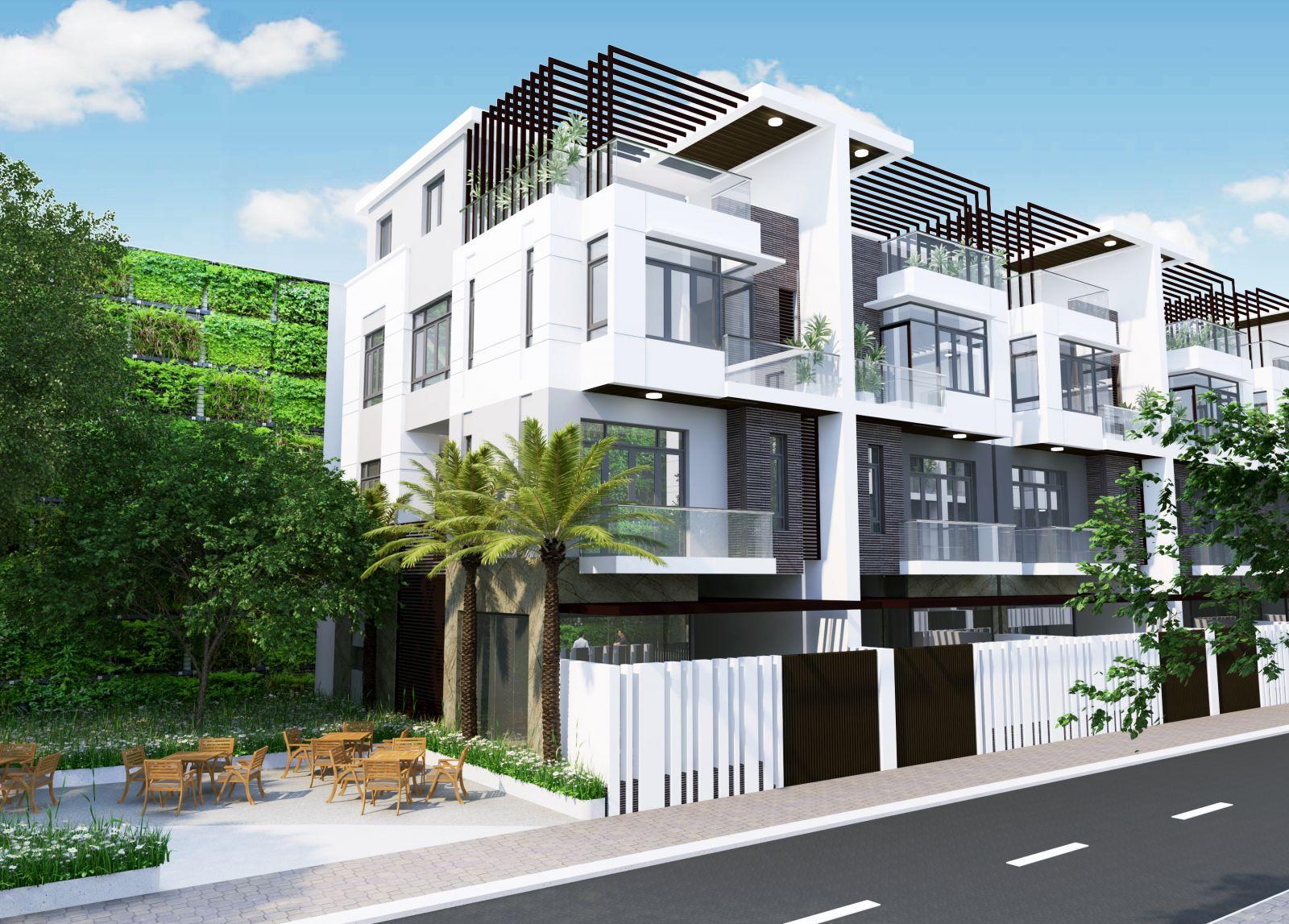 Phối cảnh mặt đứng dự án nhà ở Thiên Nam Residence Quận 12