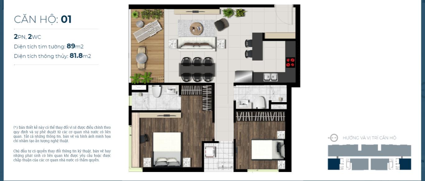 Thiết kế căn hộ sky 89 Quận 7
