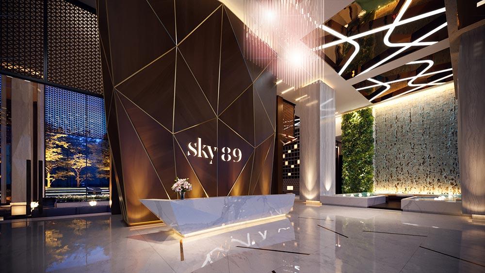 Sảnh đón thượng lưu dự án Sky89