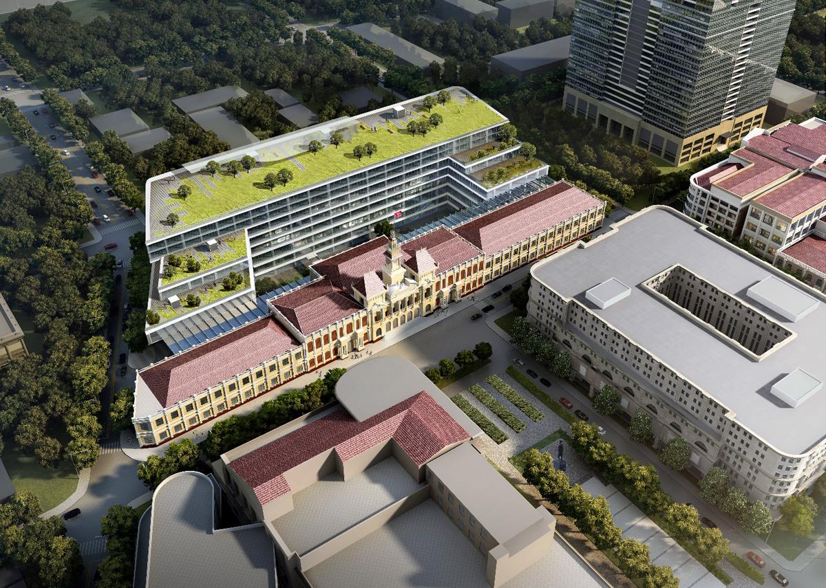 cải tạo trụ sở UBND TP HCM tòa nhà UBND TP HCM được nâng cấp