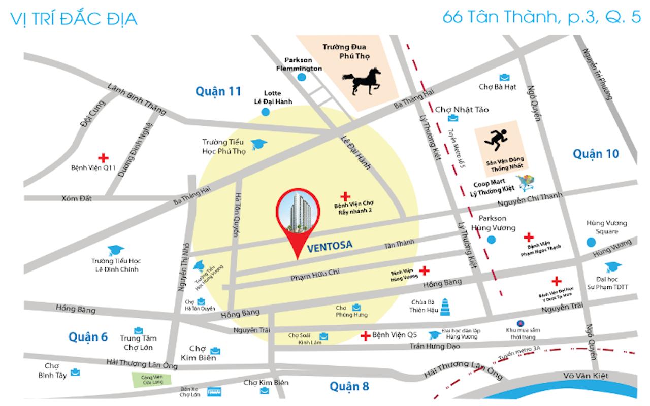 vị trí dự án ventosa Tân Thành